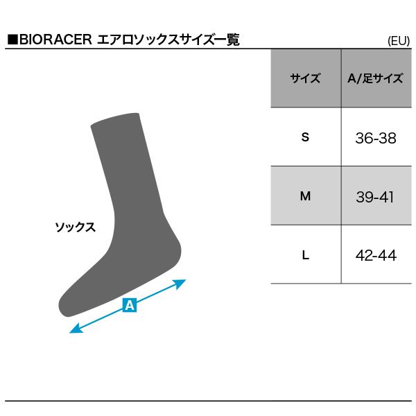 BIORACER エアロソックスサイズ