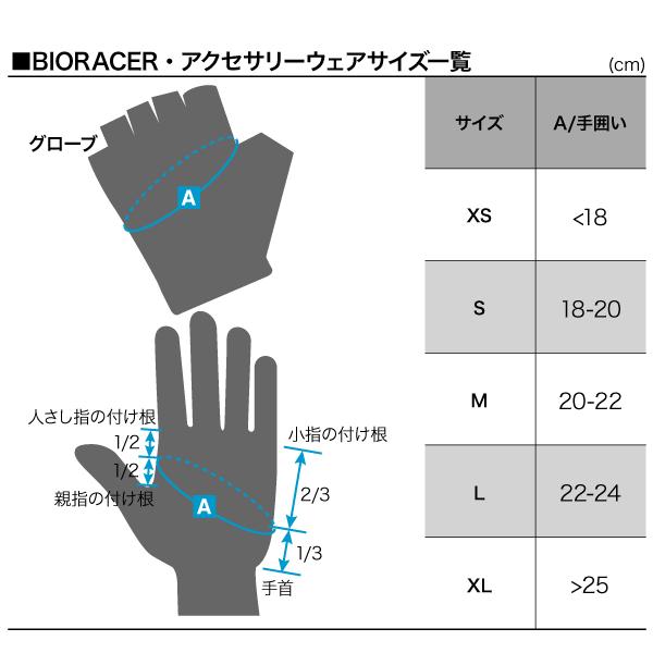 BIORACER グローブサイズ