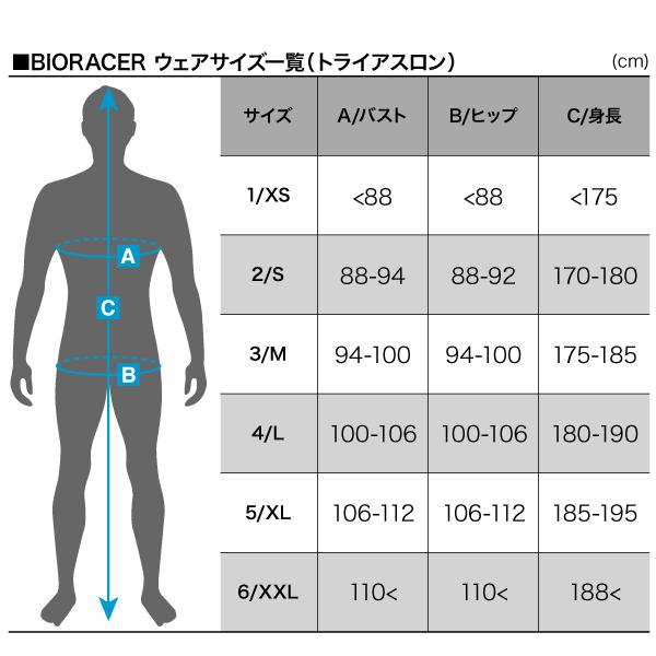 BIORACER トライウェアサイズ